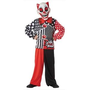Childs Pop Wow Clown Costume Age 7-9 Years