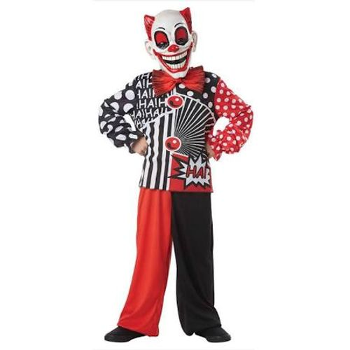 Childs Pop Wow Clown Halloween Fancy Dress Costume Age 7-9 Years