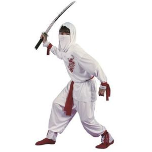 Childs White Ninja Costume Age 8-10 Years
