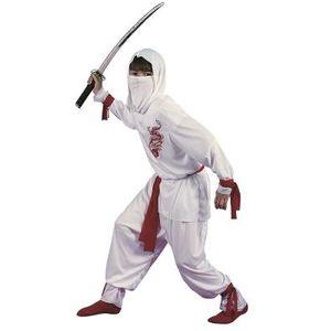 Childs White Ninja Costume Age 10-12 Years