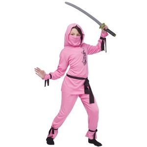 Childs Pink Ninja Costume Age 4-6 Years