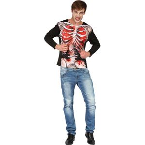 Skeleton Chained 3D Print Long Sleeved Top