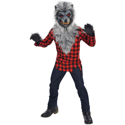 Teens Hungry Howler Werewolf Halloween Fancy Dress Costume Age 14-16 Years