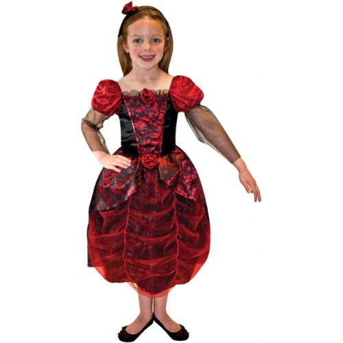 Childs Gothic Ball Gown Halloween Fancy Dress Costume Age 9-11 Years