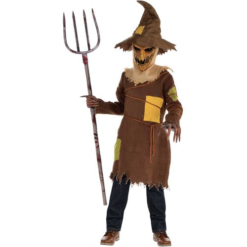Childs Scary Scarecrow Halloween Fancy Dress Costume Age 8-10 Years
