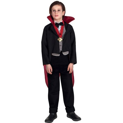 Childs Creepy Vampire Halloween Fancy Dress Costume Age 10-12 Years