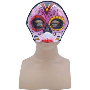 Day of the Dead Sugar Skull Pink Mix Mask