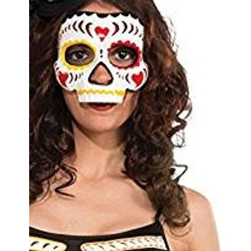 Day of the Dead Lady Mask Halloween Fancy Dress Costume Accessory