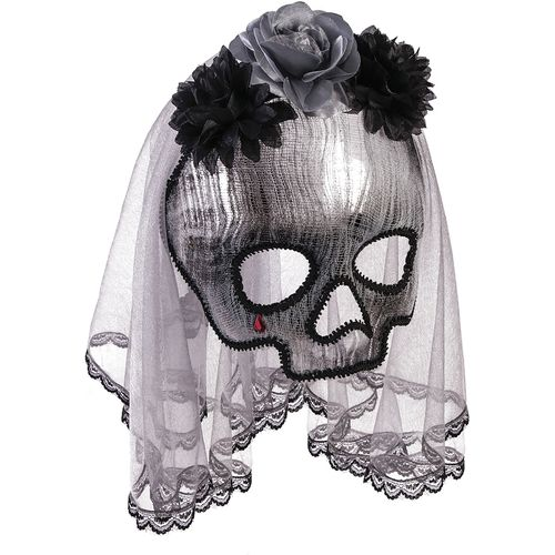 Ghostly Spirit Mask On Glasses Frame Halloween Fancy Dress Costume Accessory