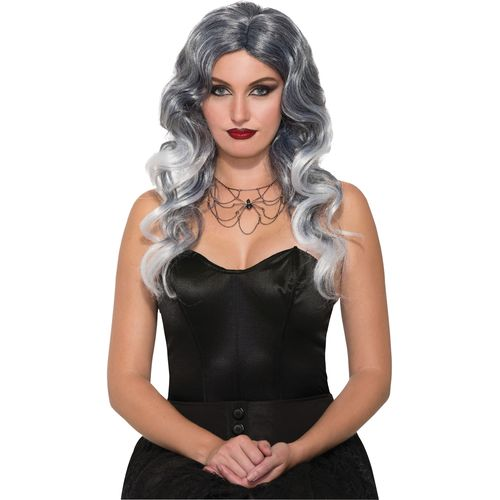 Grey Wicked Seduction Halloween Fancy Dress Wig