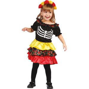Childs Day of the Dead Pequena Costume Age 3-4 Years