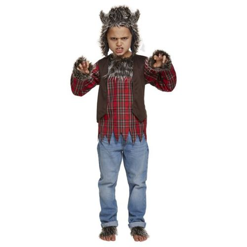 Childs Werewolf Halloween Fancy Dress Costume Age 10-12 Years