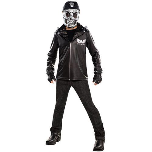 Bad to the Bone Skeleton Teen Halloween Fancy Dress Costume Age 14-16