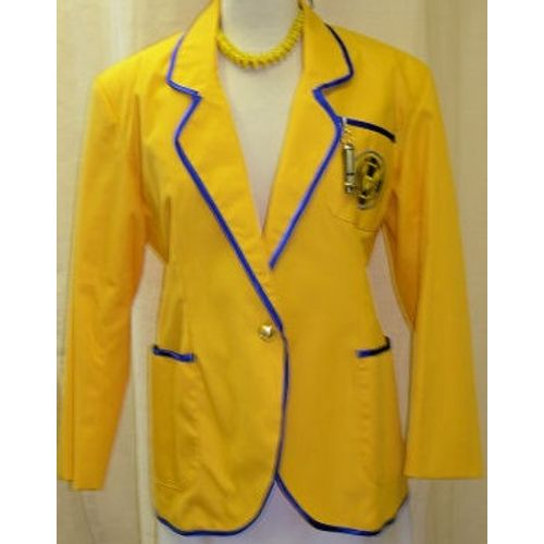 Hi De Hi Yellow Coat Lady Ex Hire Fancy Dress Sale Costume Size 10-12