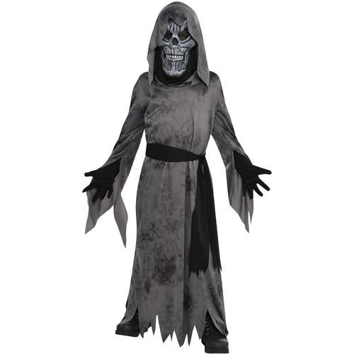 Childs Grey Ghastly Ghoul Halloween Fancy Dress Costume Age 4-6 Years