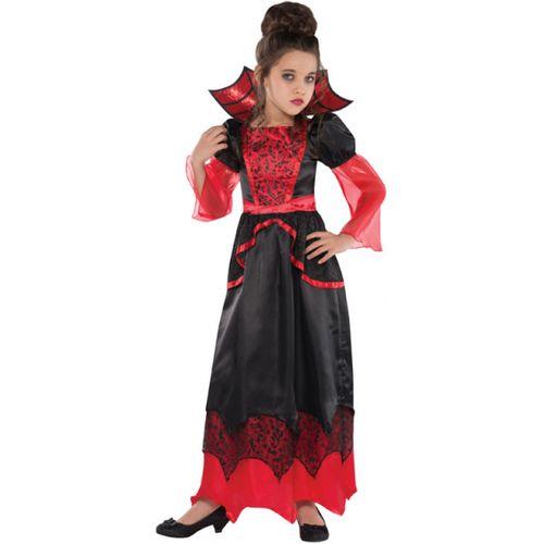 Childs Vampire Queen Halloween Fancy Dress Costume Age 8-10 Years