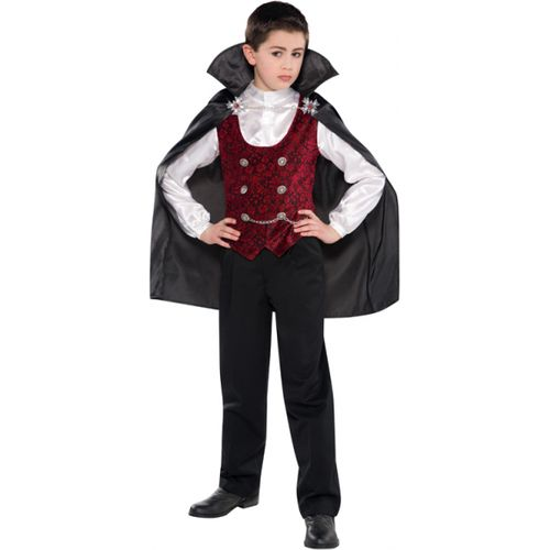 Childs Dark Vampire Halloween Fancy Dress Costume Age 4-6 Years