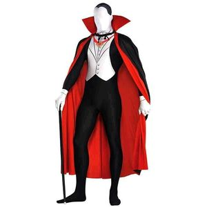 Vampire Man Party Suit Fancy Dress Size L