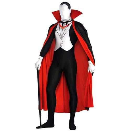 Vampire Man Party Suit Morphsuit Halloween Fancy Dress Costume Size Large