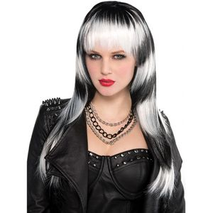 Black & White Lethal Passion Fancy Dress Wig