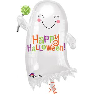Ghost with Candy Junior Shape Foil Balloon 22""