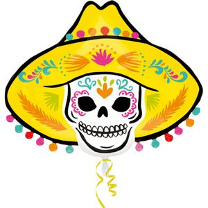 Sombrero Skull Super Shape Foil Balloon 24""