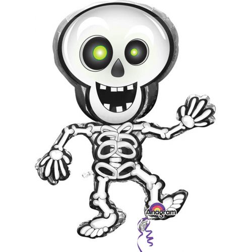 "Dancing Skeleton Super Shape Foil Balloon 33"" Halloween Party Room Decoration"
