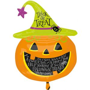 Witch Hat Pumpkin Super Shape Foil Balloon 31""