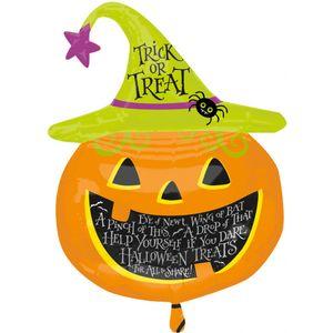 "Witch Hat Pumpkin Super Shape Foil Balloon 31"""