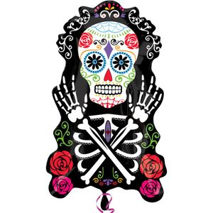 Day of the Dead Super Shape Foil Balloon 28""