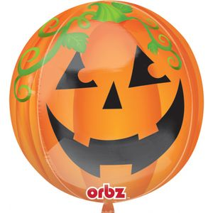Pumpkin Orbz Foil Balloon