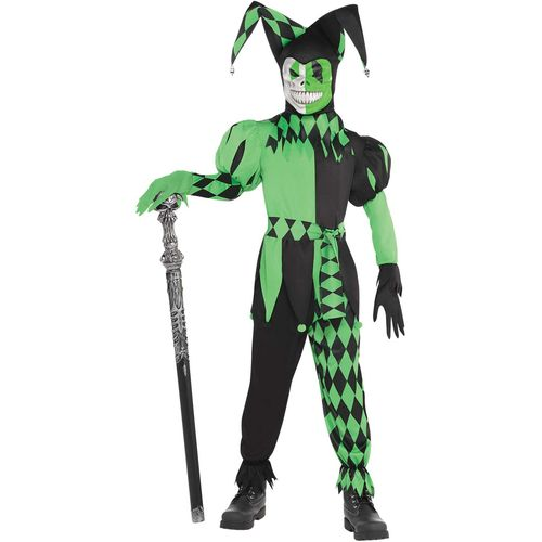 Childs Wicked Jester Halloween Fancy Dress Costume Age 8-10 Years