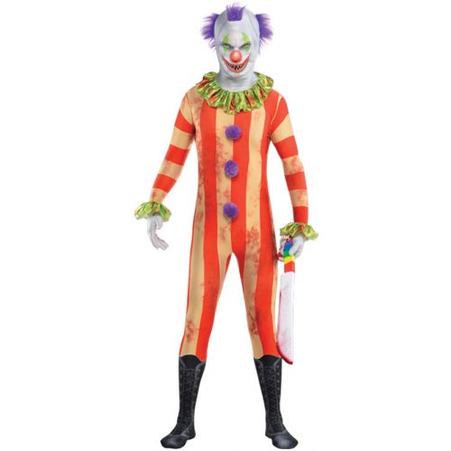 Clown Party Suit Morphsuit Halloween Fancy Dress Costume Teen Size Age 12-14