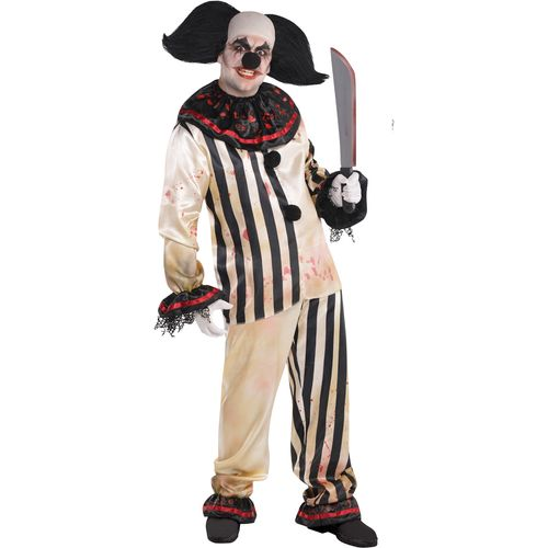 Circus Freakshow Clown Plus Size Halloween Fancy Dress Costume
