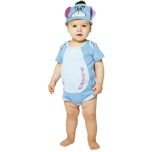 Disney Eeyore Jersey Bodysuit 0-3 Months Fancy Dress Costume