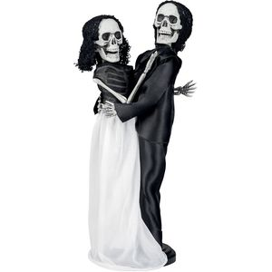 Skeleton Wedding Couple Hanging Decoration 40cm