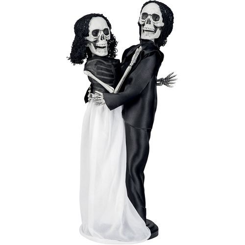 Skeleton Wedding Couple Hanging Decoration 40cm Halloween Party Accessory