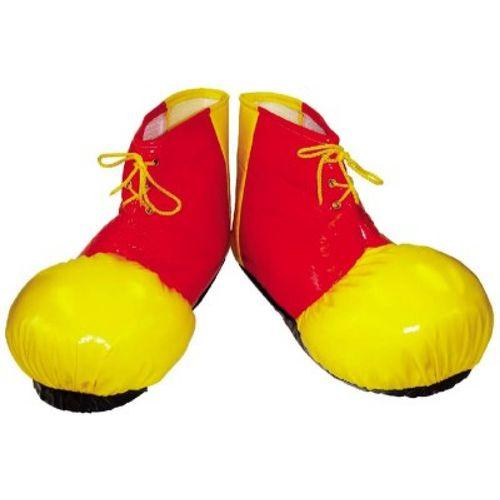 Clown Style Soft Shoe Covers Fancy Dress Costume Accessory