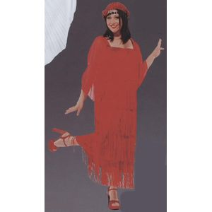 Flapper Dress Red Ex Hire Sale Costume