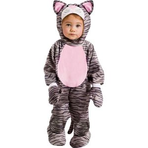 Childs Little Stripe Kitten Jumpsuit - 6 - 12 Months