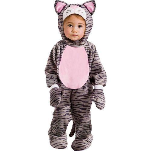 Childs Little Stripe Kitten Jumpsuit - 6 - 12 Months
