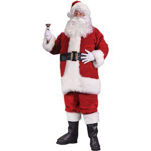 Adult Deluxe Santa Suit Costume Size M-L
