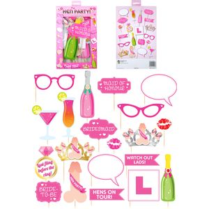 Hen Party Photo Booth Selfie Props Accessory Set
