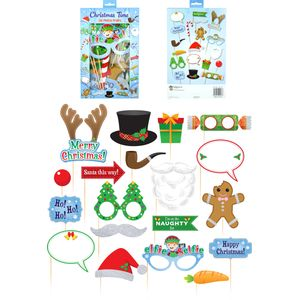 Christmas Party Photo Booth Selfie Props Accessory Pack