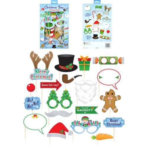 Christmas Props Party Photo Booth Selfie Pack