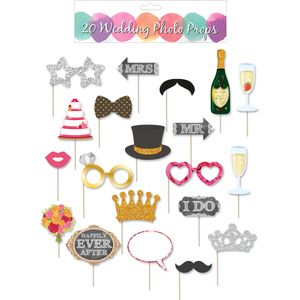 Wedding Photo Booth Selfie Props Accessory Pack