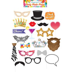 Party Photo Booth Selfie Props Accessory Pack