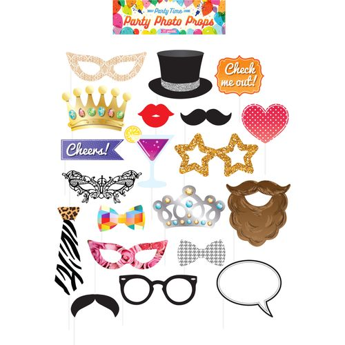 Party Photo Booth Selfie Props Accesory Pack