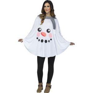 Printed Poncho (Snowman)