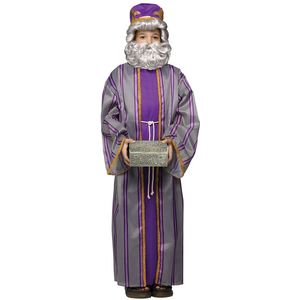 Childs Wise Man Costume (Purple) Small